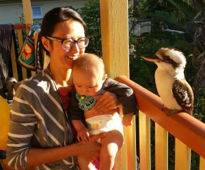 Sarah and Forrest with Kookaburra
